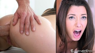 FIRST ANAL! Young Slut Gets Her Virgin Asshole Filled W/ An Oozing Creampie