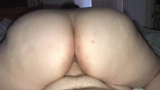 PAWG Step Mom Gets Creampie Then Rides Cock With Cum Filled Pussy Looped