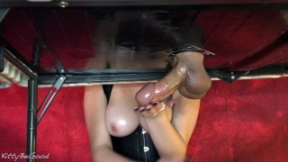 I Tease All Of His Cum Into My Hand (Cock Edging Torture)