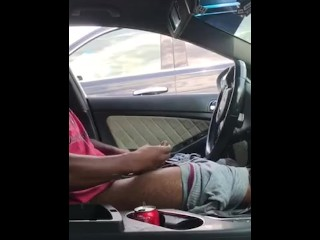 SMOKEPOLEBOY JACKING BIG BLACK COCK IN PUBLIC.. LADY FREAKS OUT WHEN SHE SE