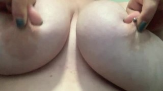 BBW self playing with huge natural tits