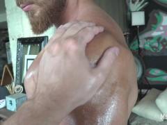 Muscle worship hunk! Huge biceps, foot fetish, jock off