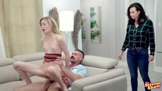 Two Men And An XXX Show - Charlie Charms His Way Into A Threesome
