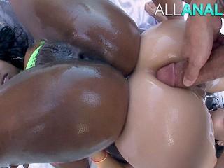 ALL ANAL Skyler Nicole and Vanessa Sky both get ass fucked