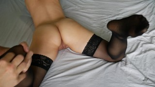 Tickle Foot In Black Stockings With Holes ~DirtyFamily~