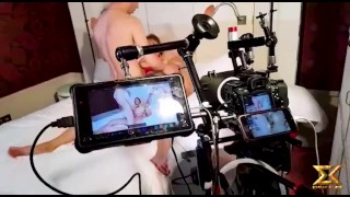 Behind the scene of double anal custom video