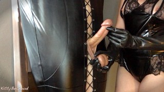 Femdom Vibrator Torture Bondage & Milking
