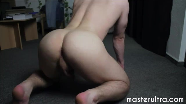 Naked male butt