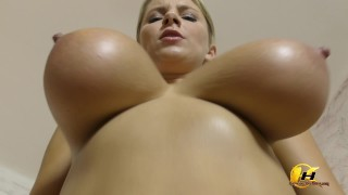 Screen Capture of Video Titled: Super hot video SlowMotion jumping and bouncing boobs
