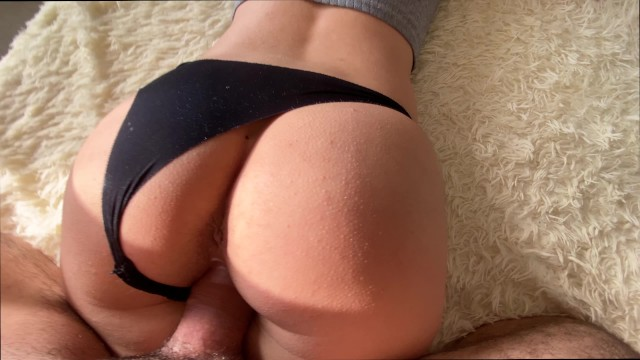Horny Teen Girlfriend Begs for Sex and Orgasm - Cum on Black Panty