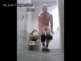 locker room jock getting changed after gym training - Speedo Underwear
