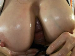 Busty Nurse Helps Patient with a Hard Boner Using Her Big Boobs - #SF 40