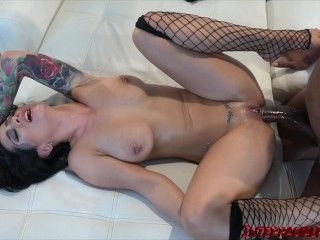 Goth Katrina Jade begs for BBC pounding to dishonor daddy