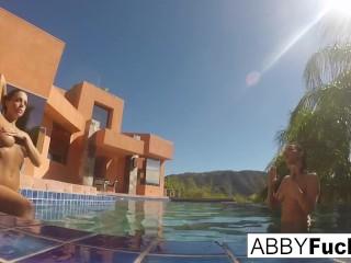 Behind the Scenes underwater fun with Abigail & Romi