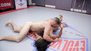 Kira Noir nude wrestling fuck from Nathan Bronson at Evolved Fights