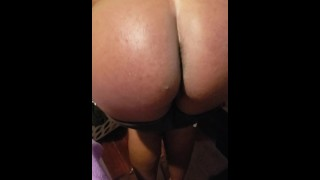 Spanking my gf and left her red