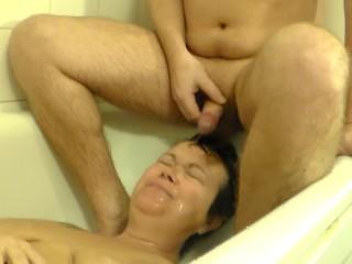 John is Peeing on Jens Face in the Bathtub