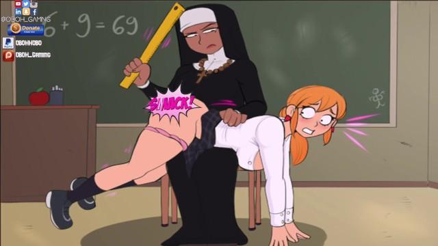 Anime Lesbian Spanking