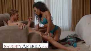Screen Capture of Video Titled: Naughty America - Demi Sutra fucks her friends husband