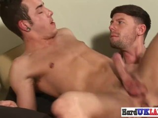Asspounded jock blows his hot cumload