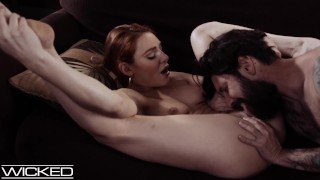 Wicked Redhead Lacy Lennon Pounded On The Couch