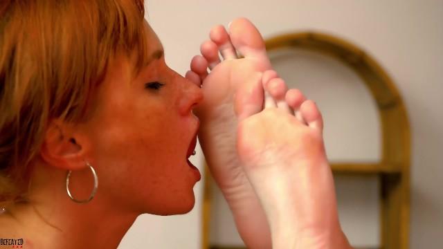 Redheads lesbian foot worship