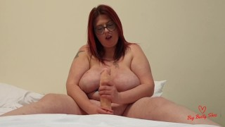 JOI cum when i tell you to Huge tits bbw wanks off huge dildo