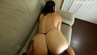 Screen Capture of Video Titled: Big booty Latina gets pounded from behind by bbc - Carmela Clutch