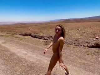 VACATION SEX-AMATEUR TEENY GIRLFRIEND  FUCK AND CREAMPIE IN ATACAMA DESERT