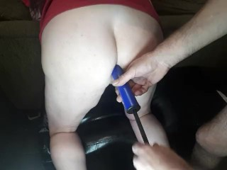 Fan request. Hubby inflates my horny slut ass so I fill his mouth with juicy noisy farts