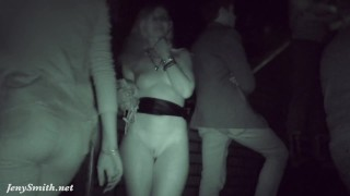 Got naked in a dark corner of a club. Caught!
