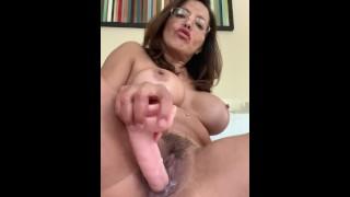 Hairy Dildo Orgasm