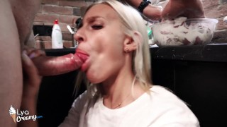 Suck Big Cock and Jerk Off - Oral Creampie