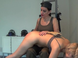 Nenetl Avril Get's Spanked Straight by Mistress Bellatrix