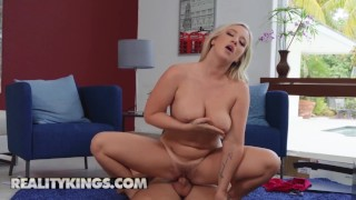 Reality Kings - Bailey Brooke gets her big naturals tits stuck
