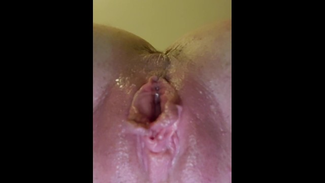 Girl Squirts Her Own Mouth