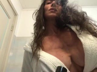 dryer for muscles and puss hairy pussy