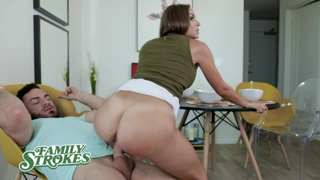 FamilyStrokes - Cheating Stepmom and Son have Hard Rough Sex with ...