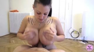 Perfect Big Natural Boobs give me an Orgasmic Titty Fuck