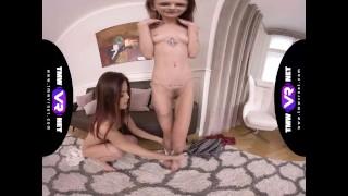 TmwVRnet - Adelle & Cindy Shine - Sweet girlish sex secret