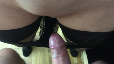 His sperm leaked from my vagina to my underpants. 4K