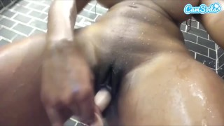 Screen Capture of Video Titled: moriah mills squirting Shower masterbation Big tits **