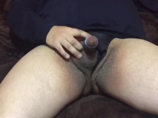 Jerking off in my new thong