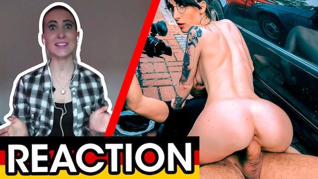 REACTION! Wannabe Punk Lou Nesbit on her first public FUCK! Dates66
