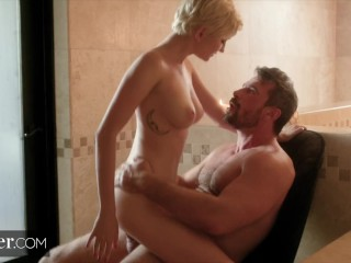 Deeper. Masseuse Skye Seduces Married Man Against his Will