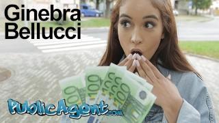 Public Agent Celebrity Look a like Ginebra Bellucci Fucked in POV