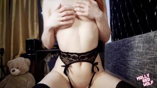Cum on the Glasses of a Redhead . Slut Loves Blowjobs ❤ MollyRedWolf