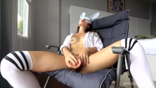 Best tight pussy masturbation games with big dildo toy | HQ