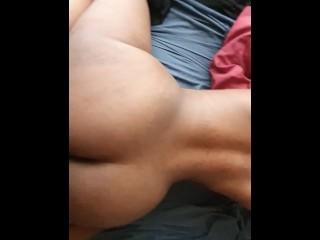 Big black booty wife twerking on my hard dick