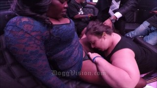 Women Eating Pussy On a Party Bus